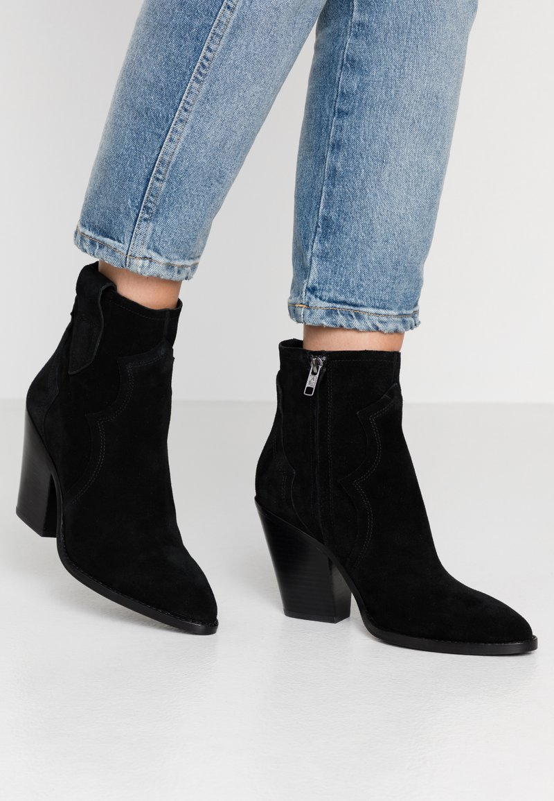 Ash - ESQUIRE - High heeled ankle boots - black