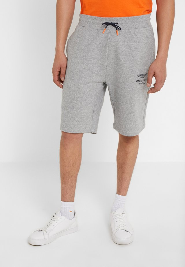 AMR TRACK SHORTS - Tracksuit bottoms - grey marl