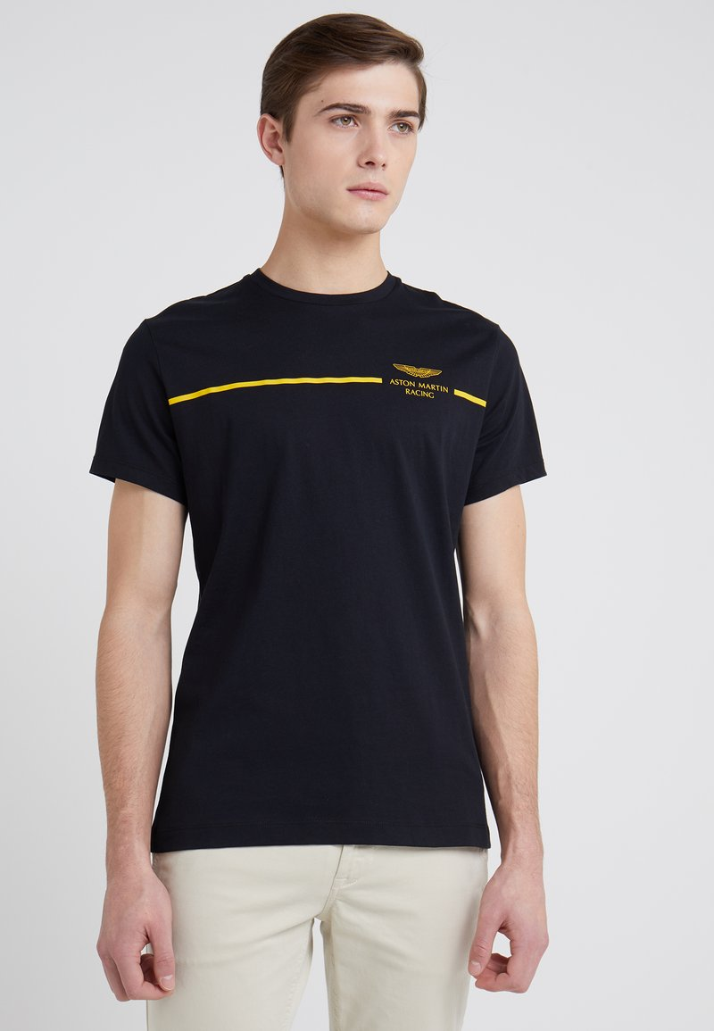 Hackett Aston Martin Racing - STRIPE TEE - Print T-shirt - black