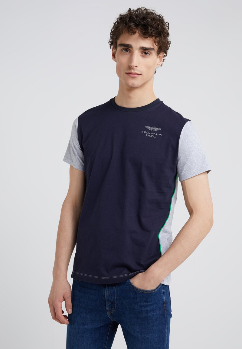 Hackett Aston Martin Racing - T-Shirt print - navy/grey