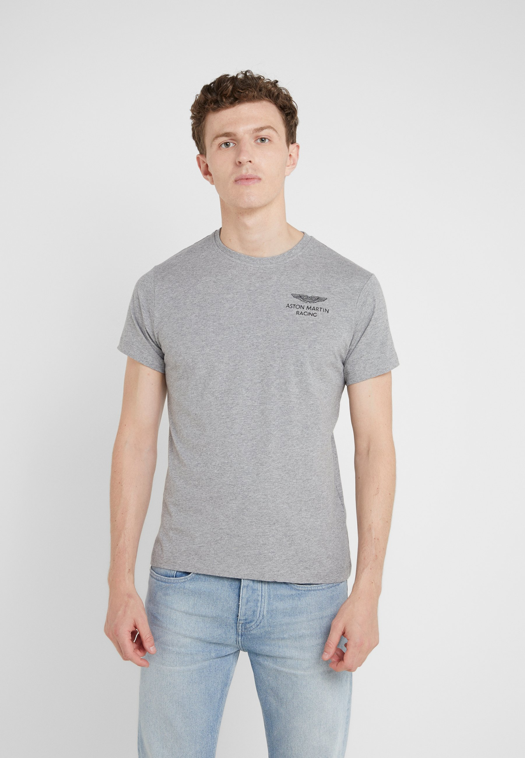 Aston Martin Logo Basique Racing Grey TeeT Hackett shirt TJK1lFc