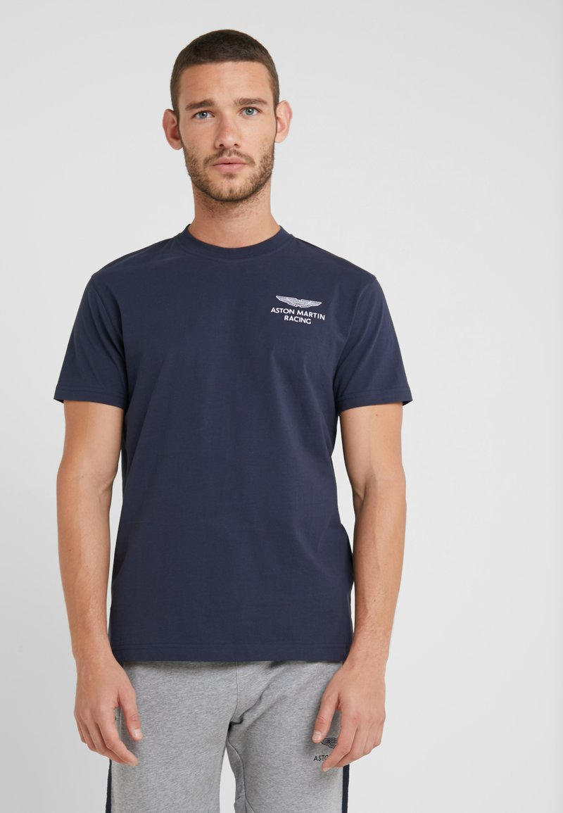Hackett Aston Martin Racing - LOGO TEE - T-shirt basic - navy