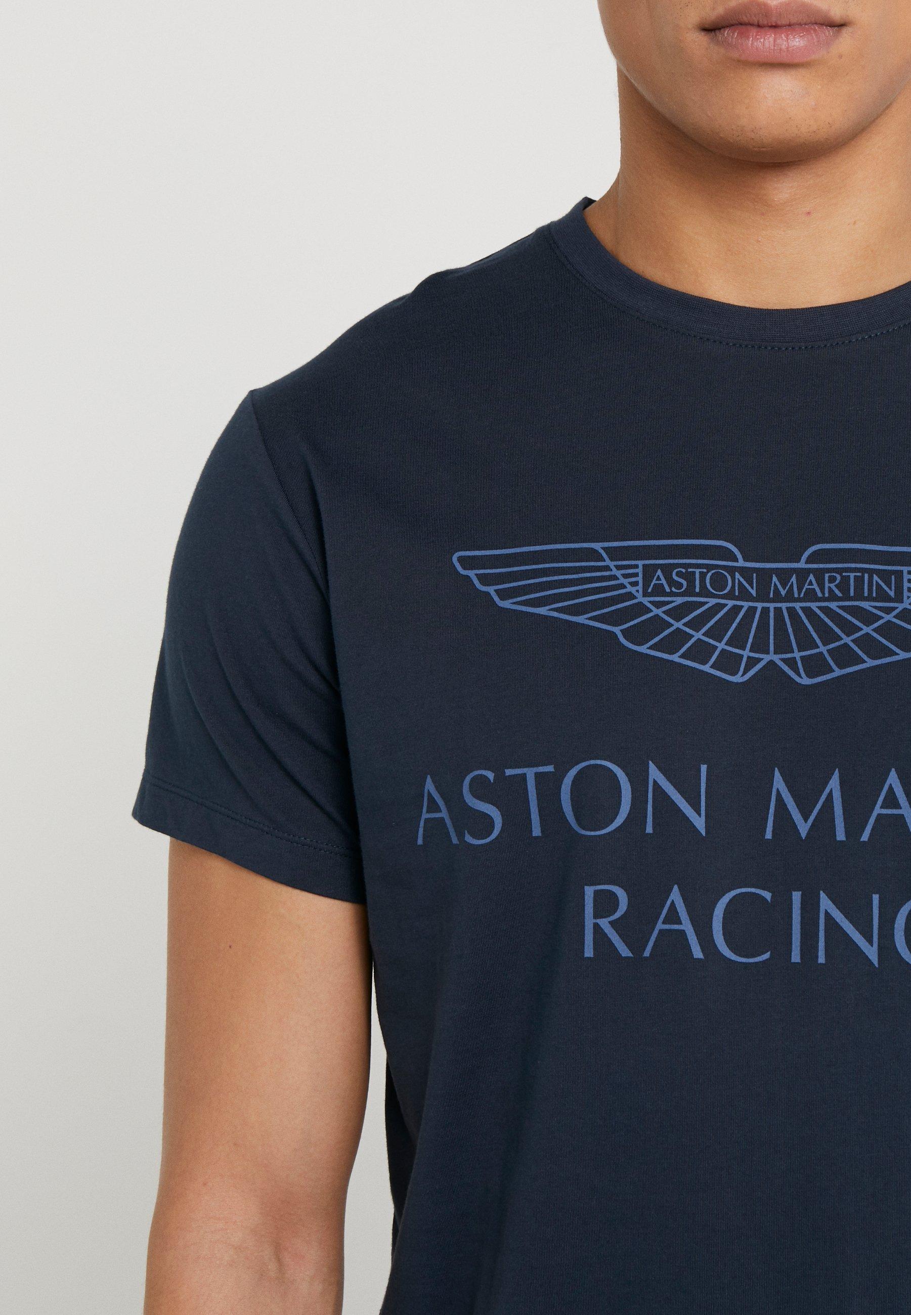 Hackett Aston Martin Racing AMR WINGS TEE - T-shirt z nadrukiem - navy
