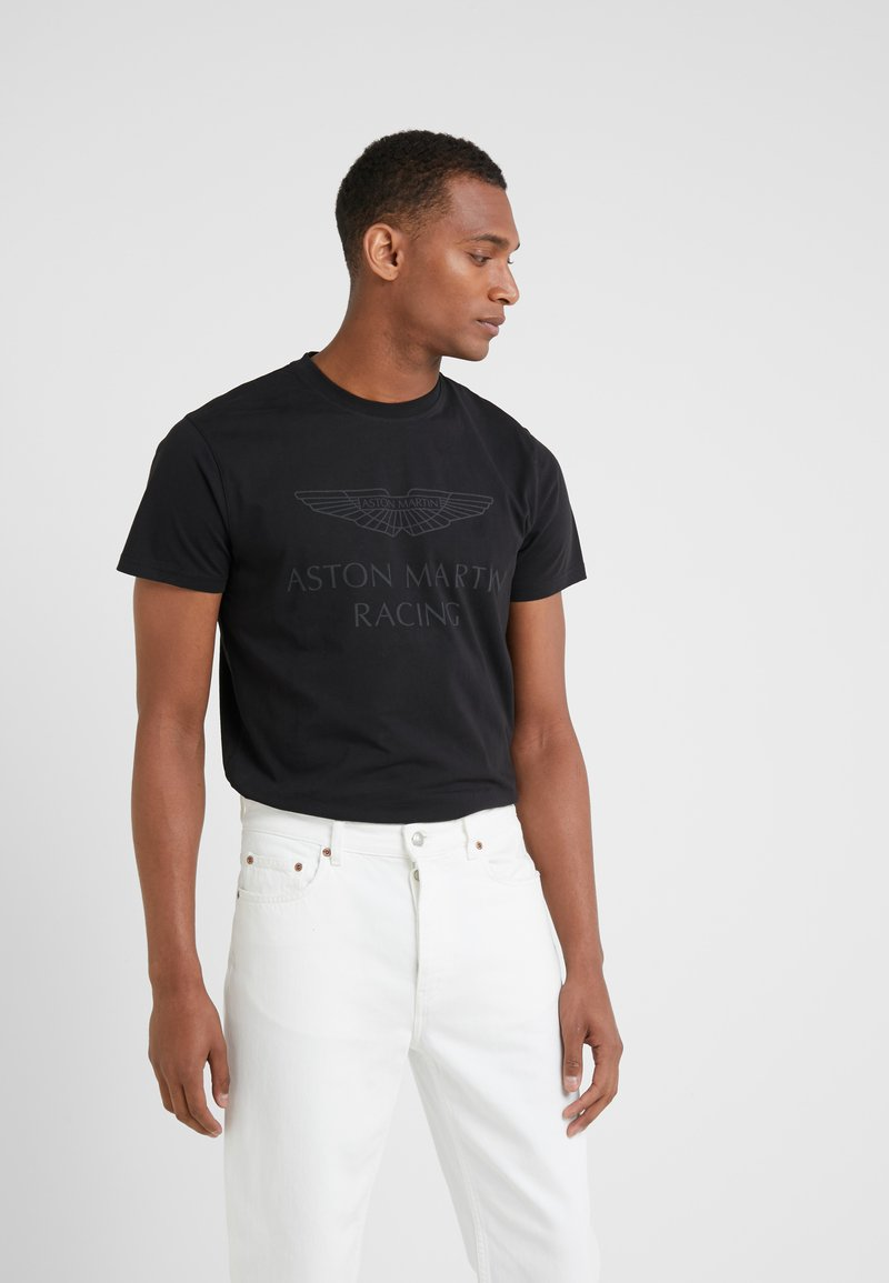 Hackett Aston Martin Racing - WINGS TEE - Print T-shirt - black