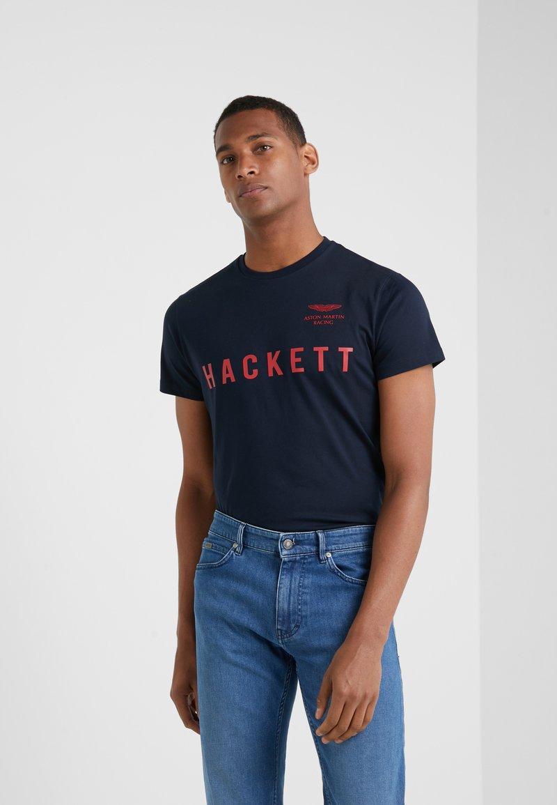 Hackett Aston Martin Racing - TEE - T-Shirt print - navy