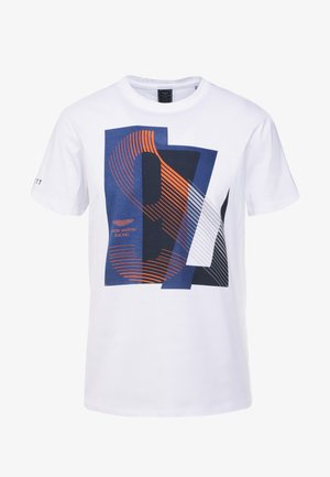 AMR RACING  - T-shirt z nadrukiem - white
