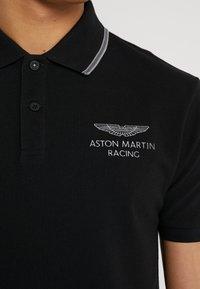 Hackett Aston Martin Racing - AMR FINE TIP POLO - Koszulka polo - black - 5