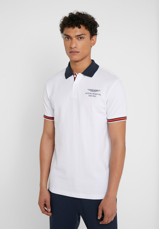 AMR TAPE POLO - Pikeepaita - white