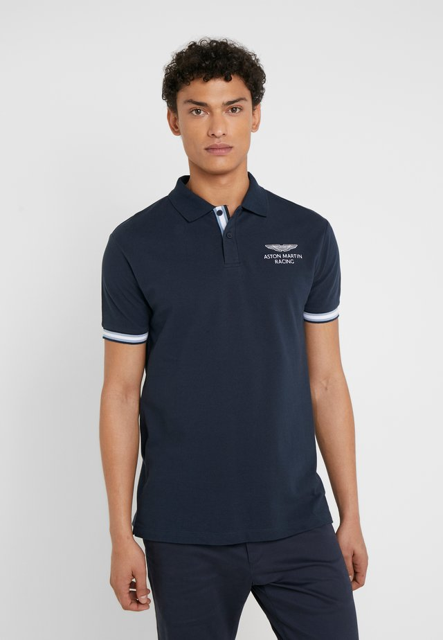 AMR TAPE POLO - Polo shirt - navy
