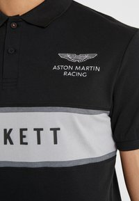 Hackett Aston Martin Racing - CHEST PANEL - Poloshirt - black/silver - 4