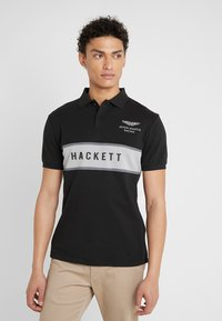 Hackett Aston Martin Racing - CHEST PANEL - Poloshirt - black/silver - 0