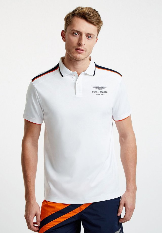 AMR KNIT SHOULDER - Polo shirt - white
