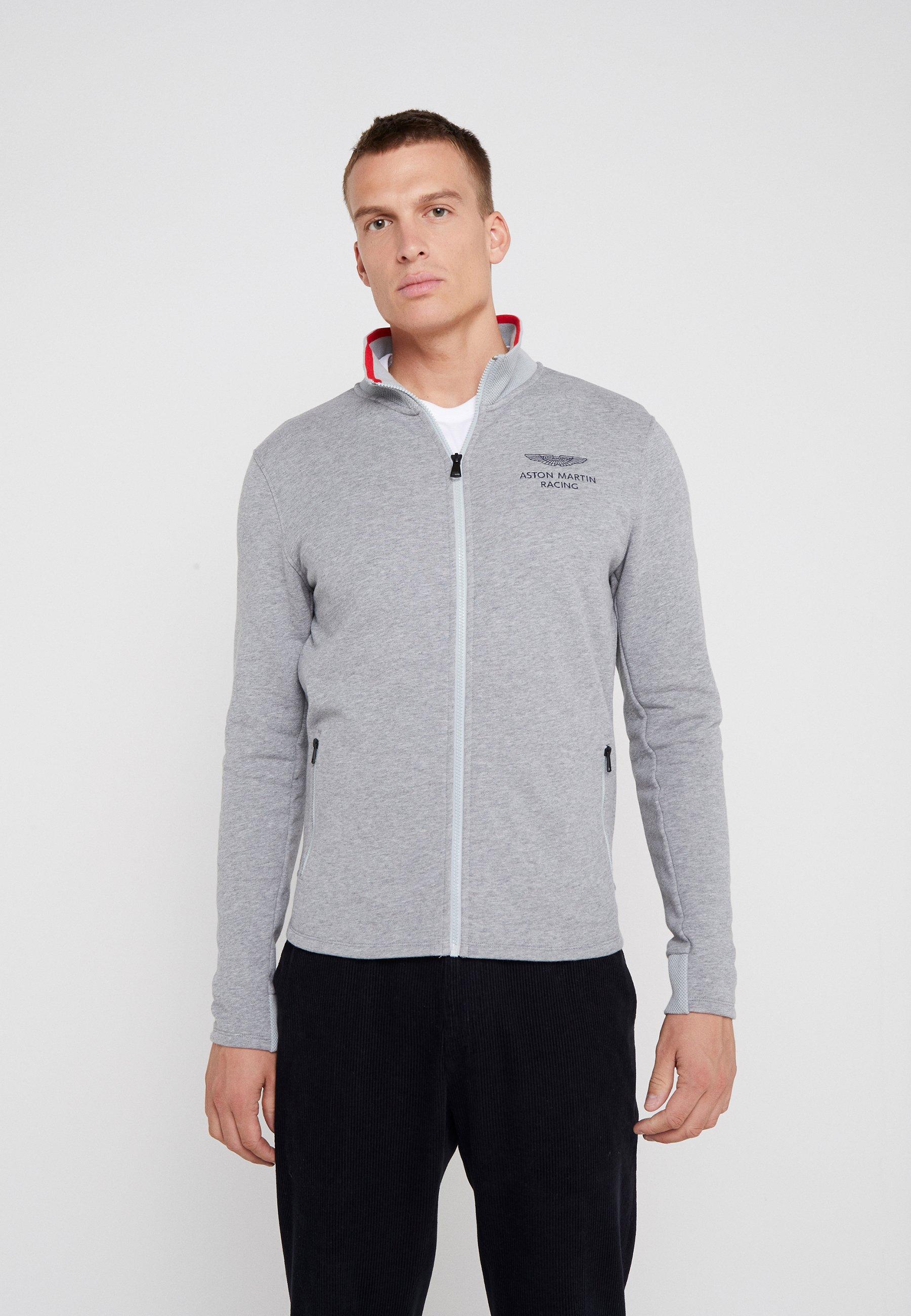 Hackett Aston Martin Racing Bluza rozpinana - mid grey