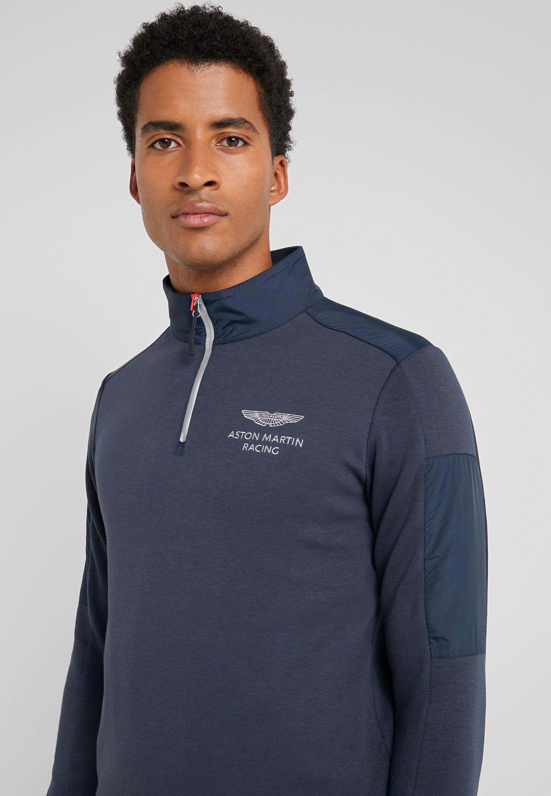 Hackett Aston Martin Racing Sport Half Zip - Langarmshirt Navy AojjbXUc r7