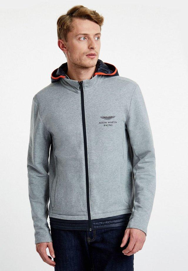 AMR TRAVEL HOODY - Zip-up hoodie - grey marl