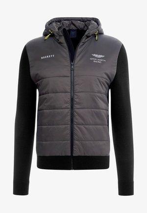 QUILTED FRONT HOODIE - Lehká bunda - khaki/black
