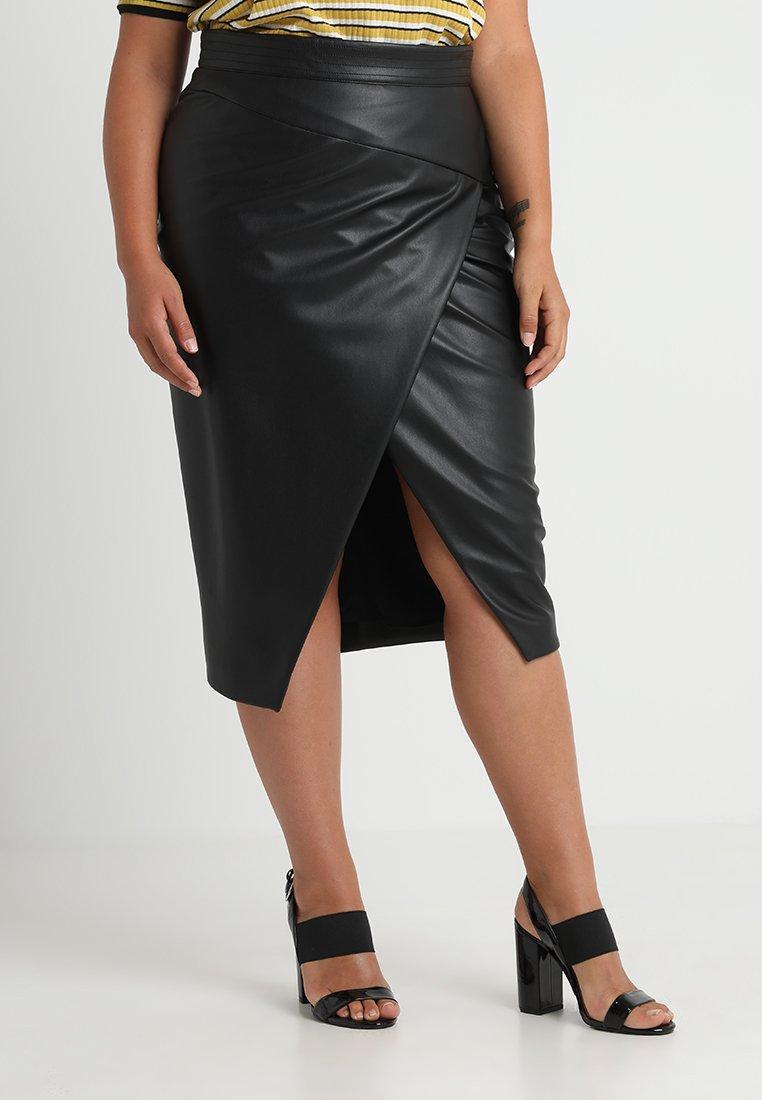 Ashley Graham x Marina Rinaldi - CORFU MDI SKIRT - Wrap skirt - nero