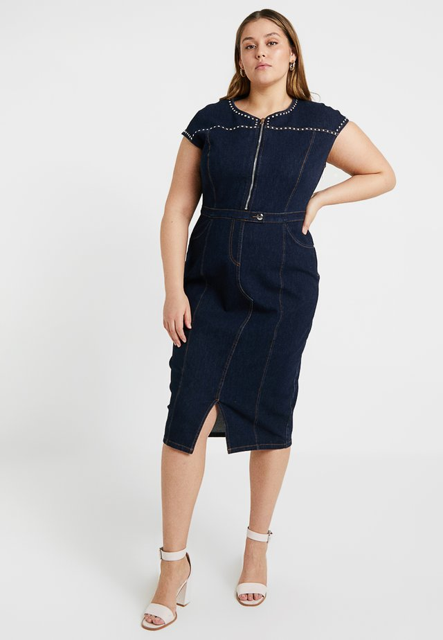 DECADE DRESS - Sukienka jeansowa - navy blue