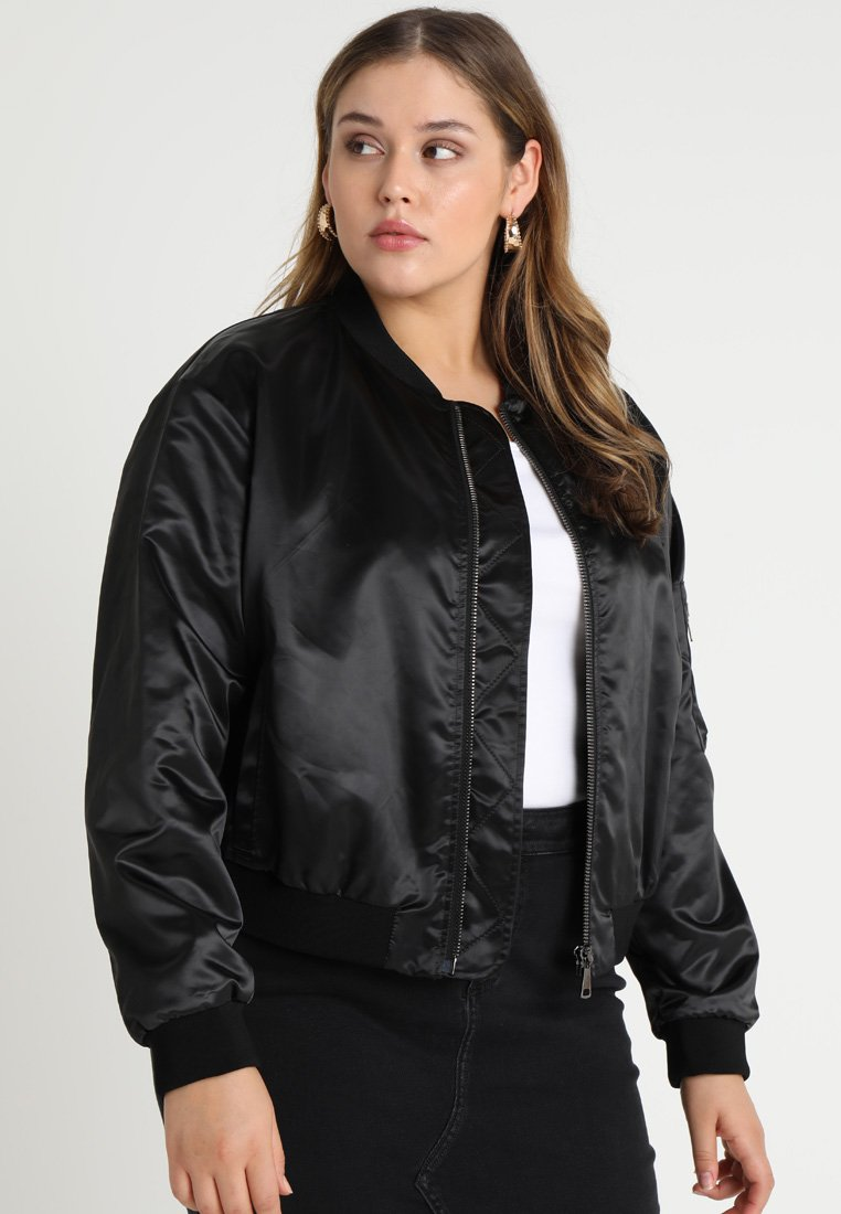 Ashley Graham x Marina Rinaldi - TAMBURO - Bomber Jacket - nero