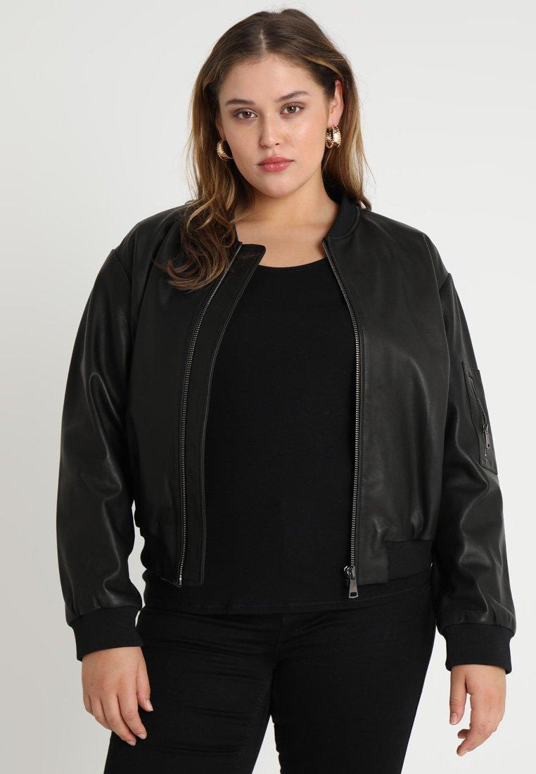 Ashley Graham x Marina Rinaldi - EBOLI  - Leather jacket - nero