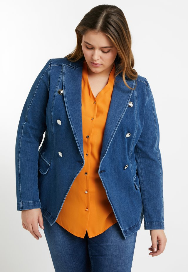 CANALE JACKET - Denim jacket - sky blue