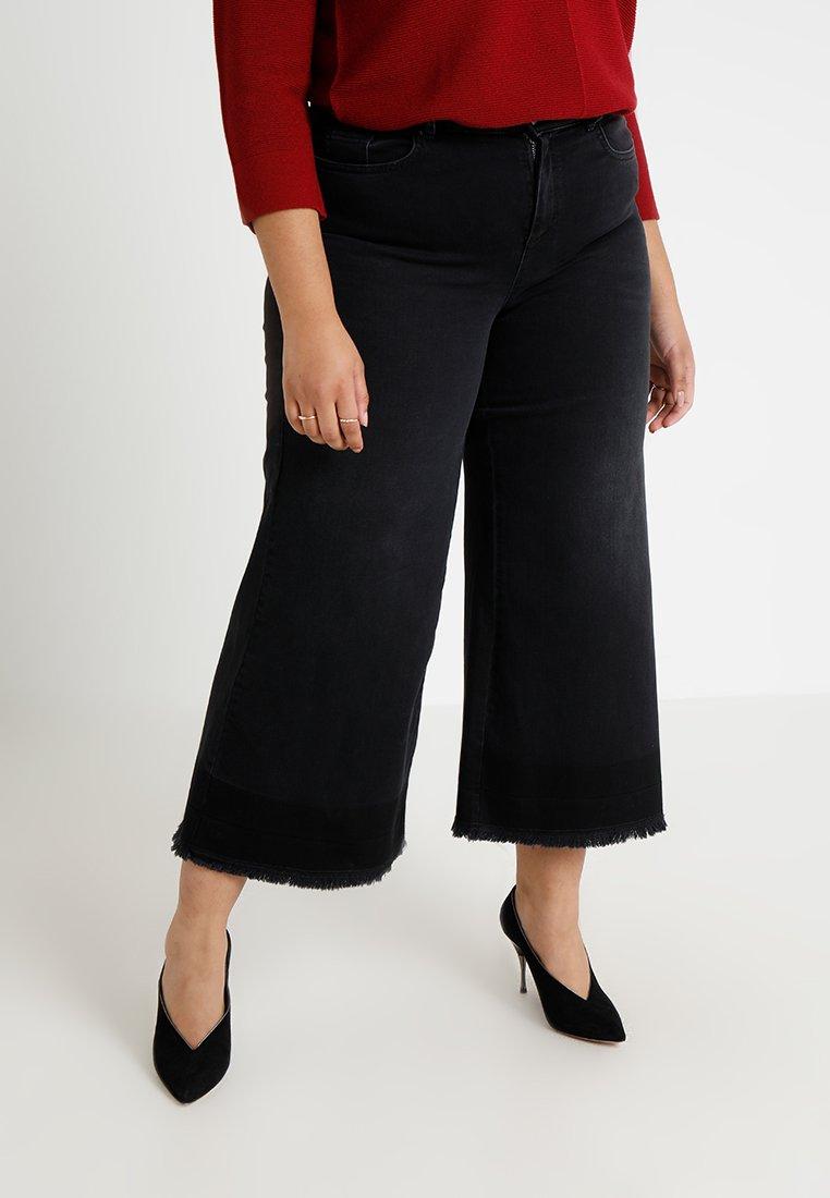 Ashley Graham x Marina Rinaldi - IGLOO TWO TONED CULOTTES - Flared jeans - nero
