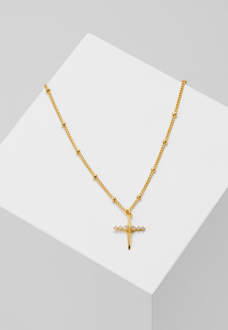 Astrid & Miyu - MYSTIC CROSS NECKLACE - Collier - gold-coloured