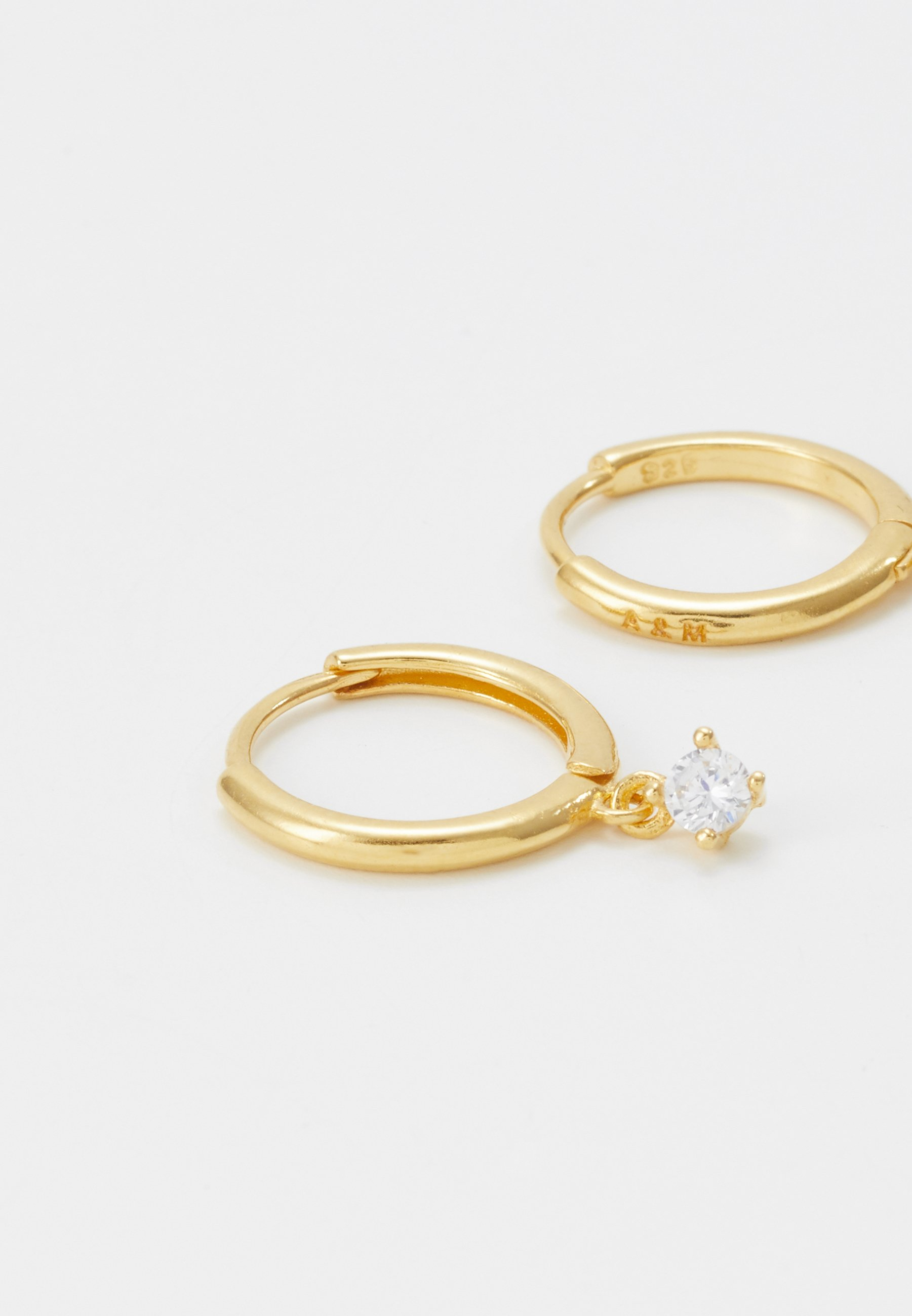 Astrid & Miyu MYSTIC DROP GEM HOOPS - Örhänge - gold-coloured