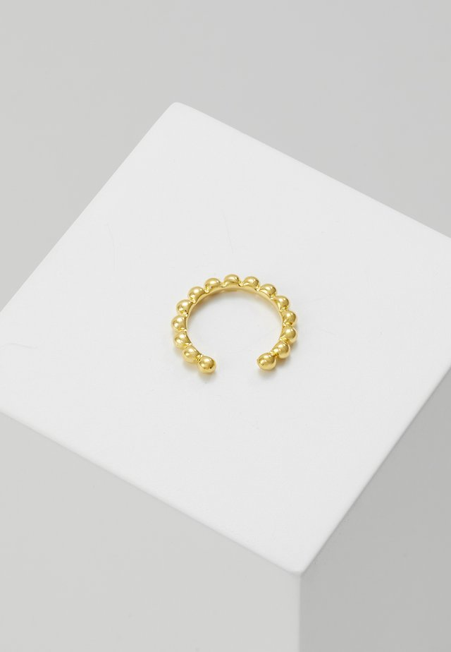 BASIC BEADED EAR CUFF - Øreringe - gold-coloured
