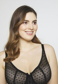 Ashley Graham Lingerie by Addition Elle - FASHION FRONT CLOSURE BRA - Underwired bra - black - 4
