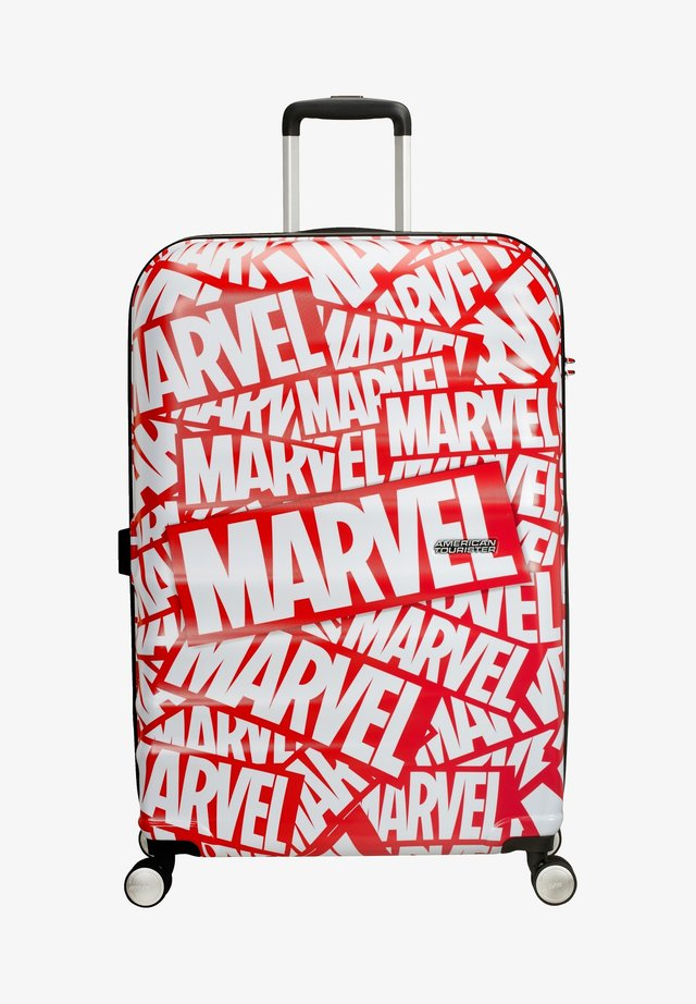 WAVEBREAKER DISNEY - Wheeled suitcase - mottled red/white