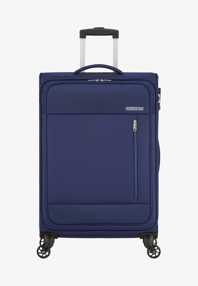 HEAT WAVE TROLLEY - Wheeled suitcase - combat navy