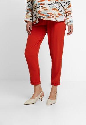 PANT MORBIDO V-BASSA - Trousers - orange