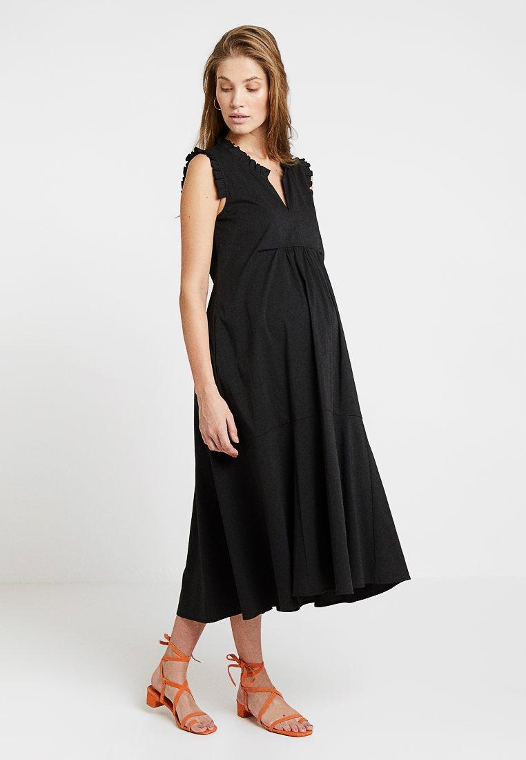 ATTESA - ROUCHES - Denní šaty - black