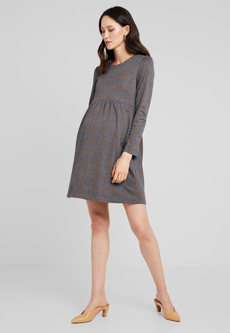 ATTESA - QUADRI  - Vestido ligero - grey/blue