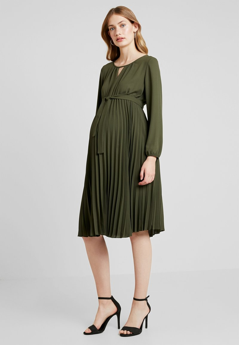 ATTESA - SOLEIL MIDI - Day dress - oliv