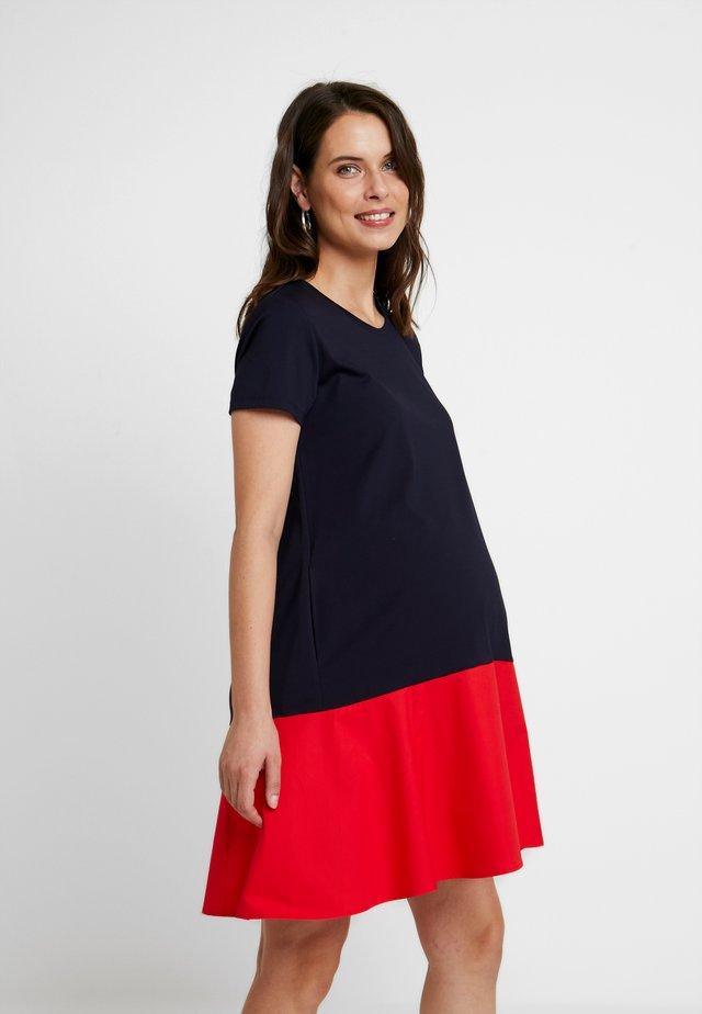 Žerzejové šaty - blue/coral