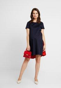 ATTESA - Jersey dress - navy - 2