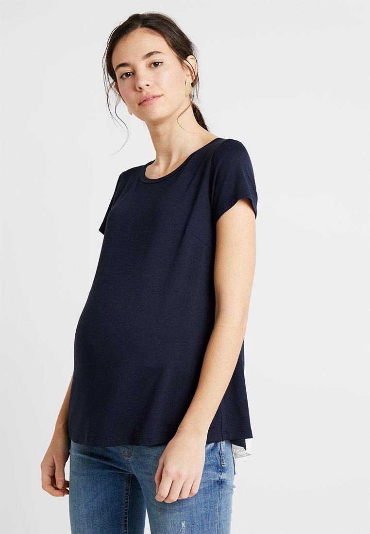 ATTESA - MAGLIA PIZZO - Camiseta estampada - blue