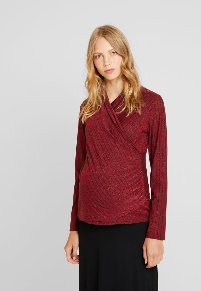 INCROCIATA - Long sleeved top - red