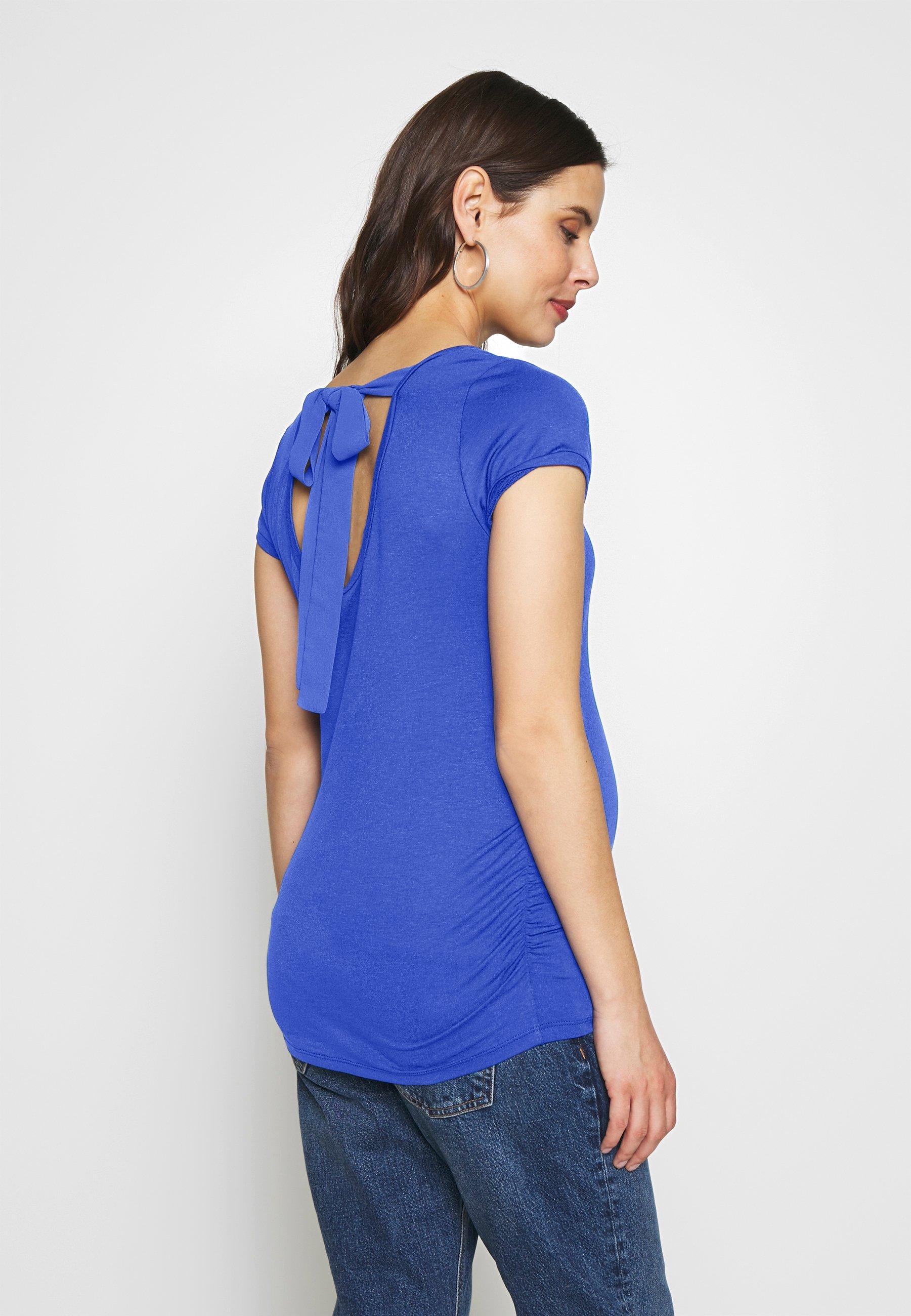 ATTESA MAGLIA FIOCCO - T-shirt z nadrukiem - royal blue