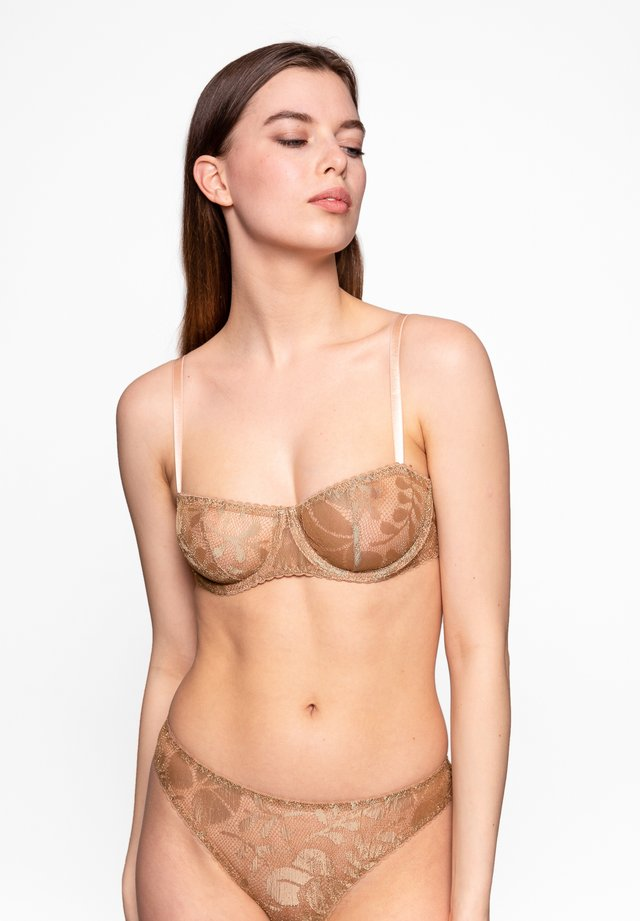 Underwired bra - gold