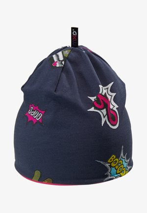 BEANIE PATCHES - Muts - graphitblau/pink
