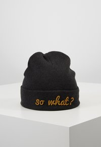 Maximo - KIDS  - Beanie - carbon meliert/curry - 0