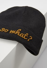 Maximo - KIDS  - Beanie - carbon meliert/curry - 2