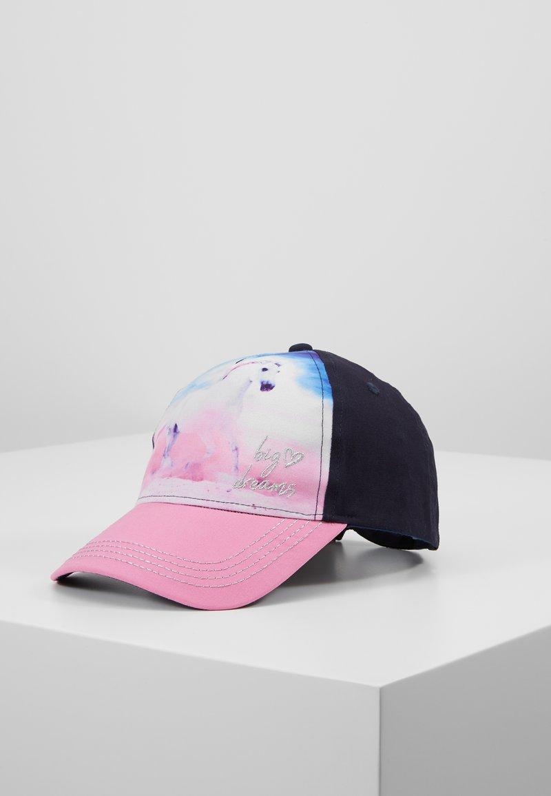 Maximo - KIDS GIRL HORSE - Czapka z daszkiem - navy/pink rose