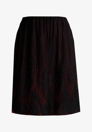 A-line skirt - bordeaux/black