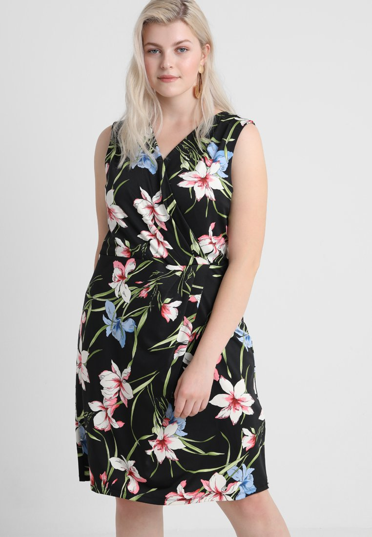 Anna Field Curvy - Shift dress - black/pink