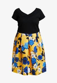 Anna Field Curvy - Sukienka z dżerseju - blue/yellow - 3