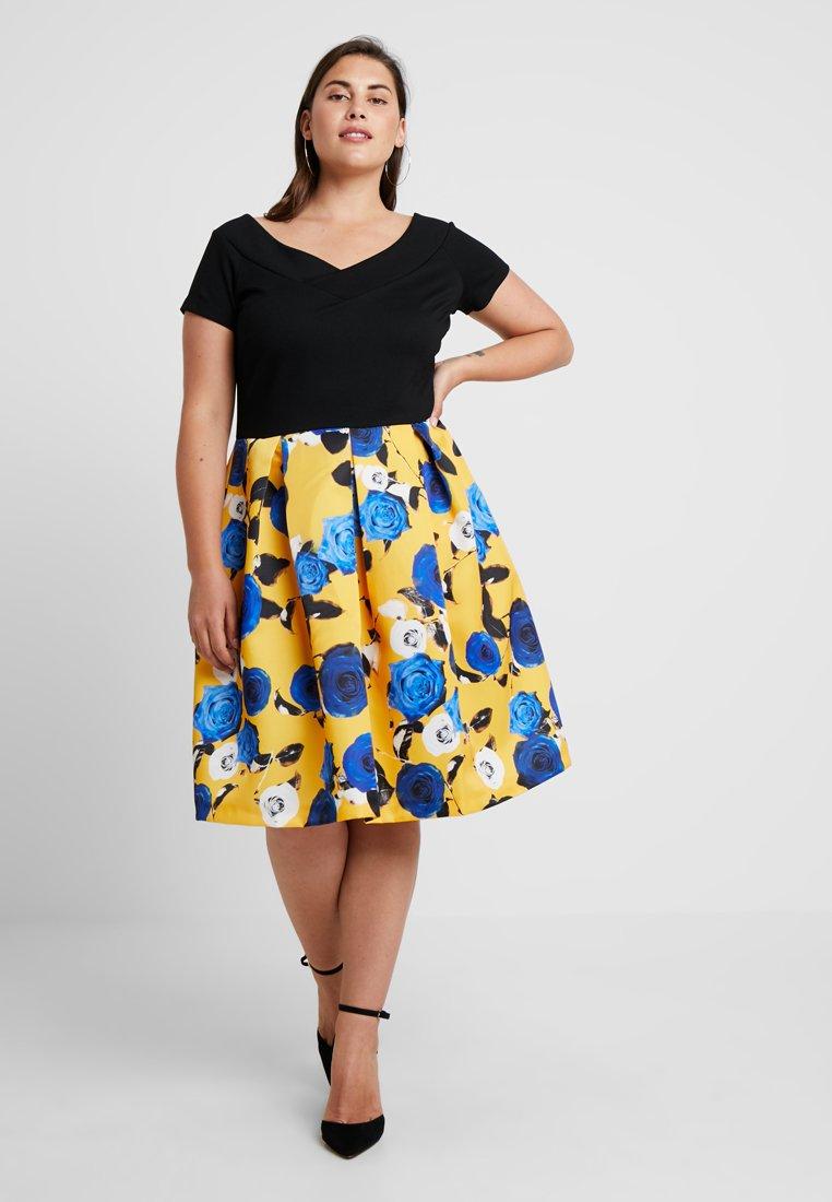 Anna Field Curvy - Sukienka z dżerseju - blue/yellow